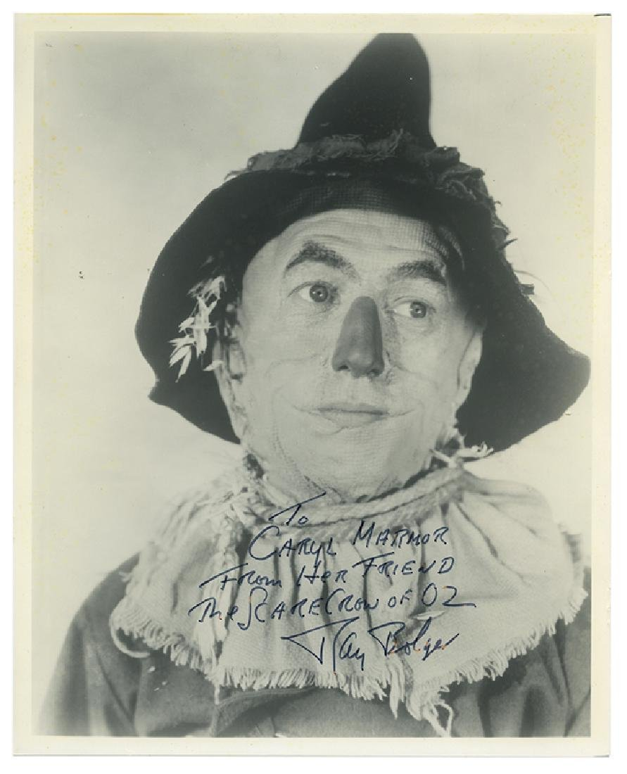 Signed and Inscribed Portrait of The Scarecrow of Oz.