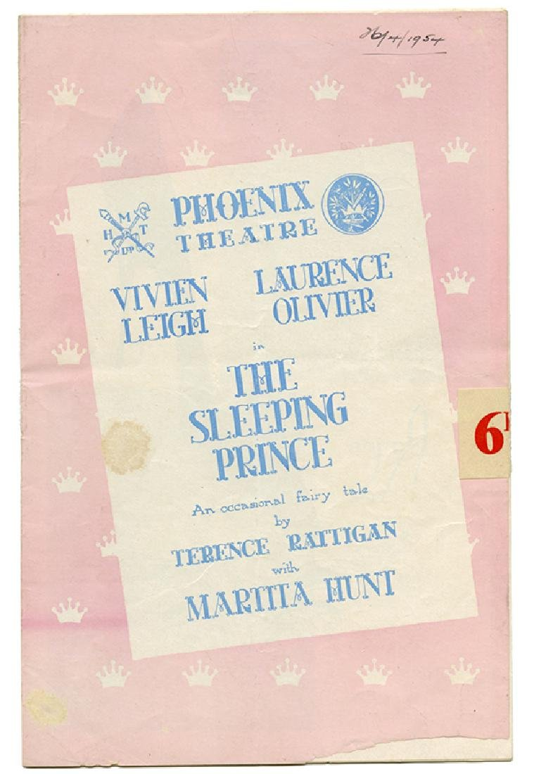 The Sleeping Prince Program, Signed by Leigh and