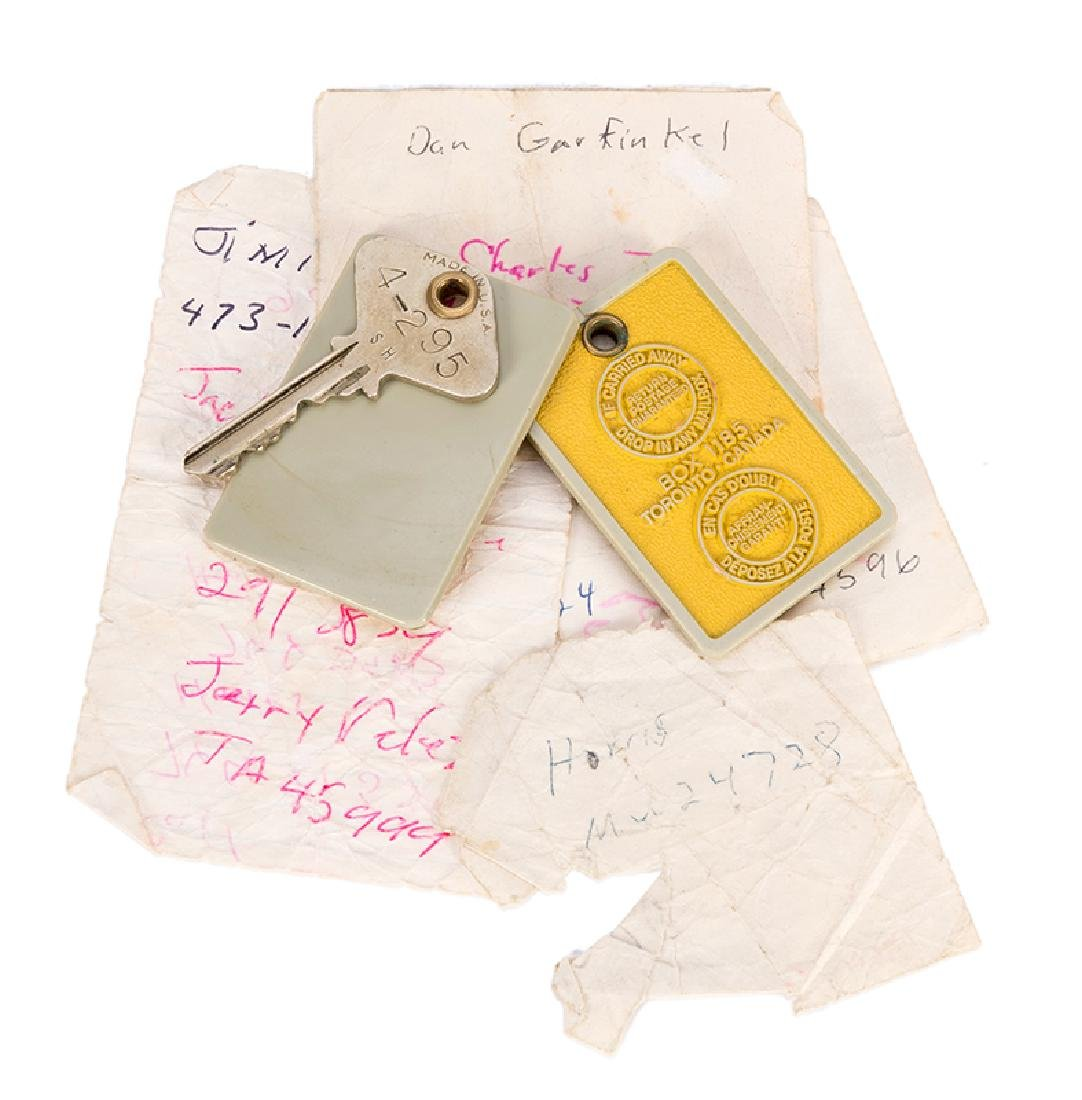 A Collection of Personal Items from a 1969 Stay by