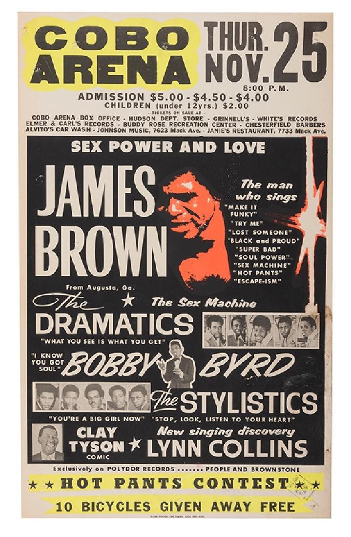 """James Brown """"Sex Power and Love"""" Cobo Arena Jumbo"""