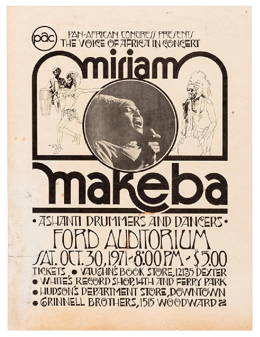 Miriam Makeba Pan-African Congress Concert Window Card.