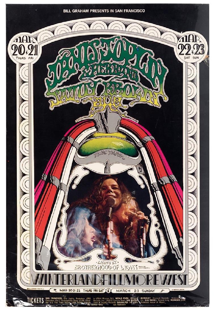Janis Joplin Winterland & Fillmore West Concert Poster.