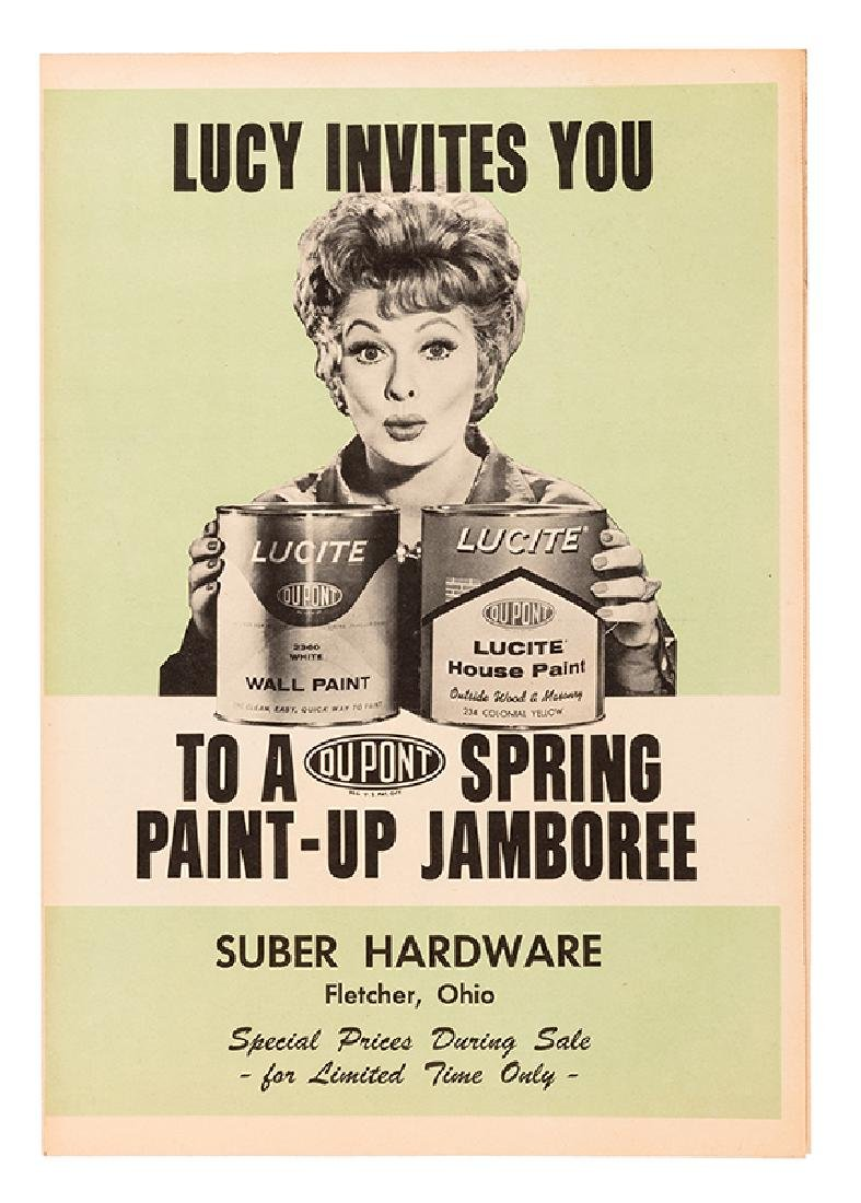 Lucille Ball Large Vintage DuPont Paint Advertising