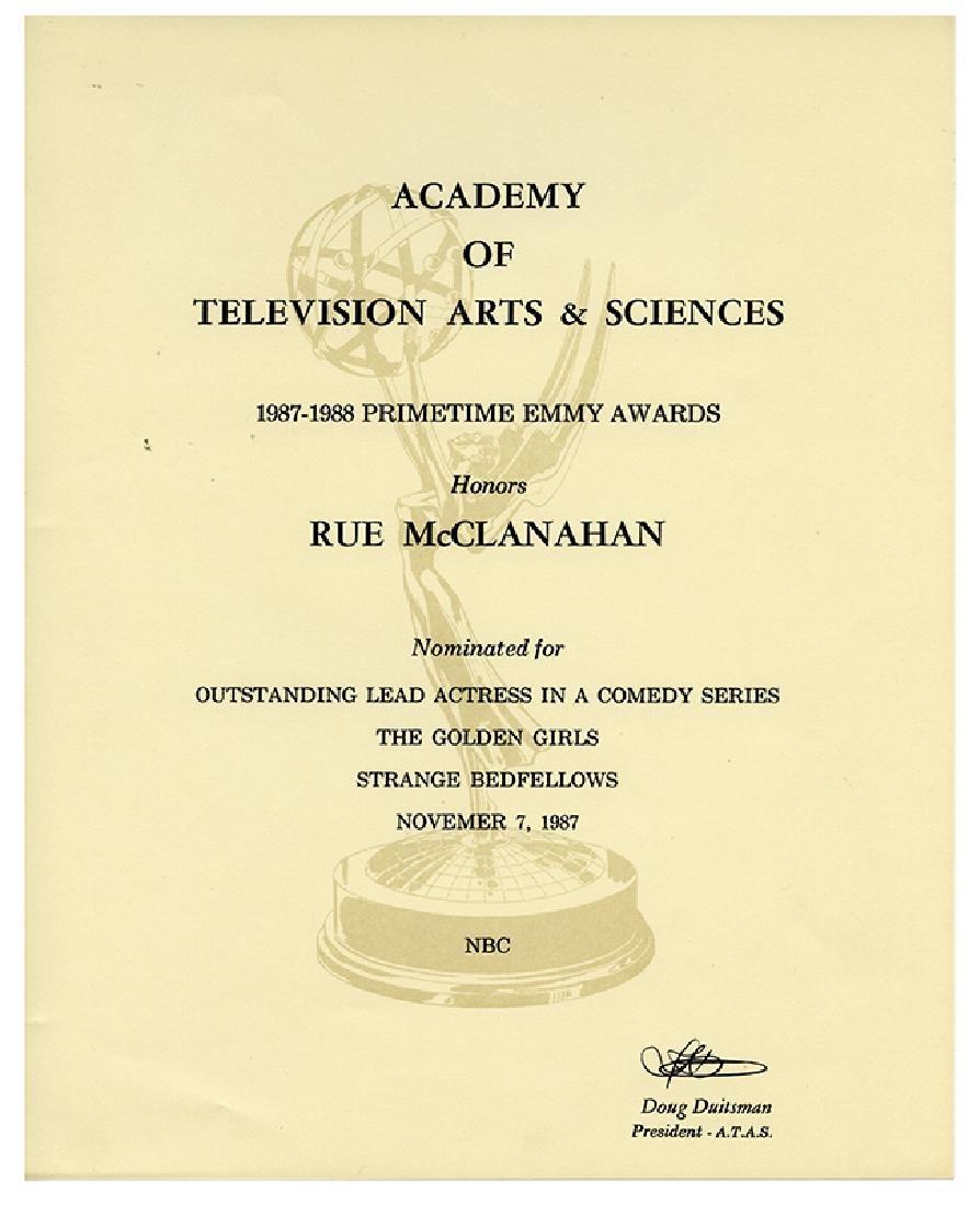 Emmy Awards Nominating Certificate.