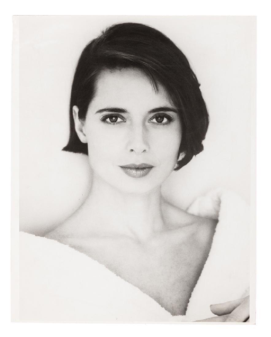 Isabella Rossellini Pair of Portrait Photographs.