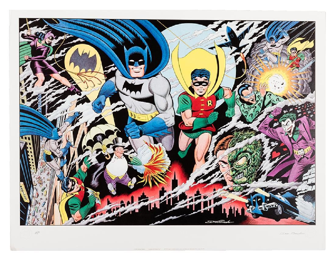 "Batman and Robin ""Guardians of Gotham City"" Lithograph."