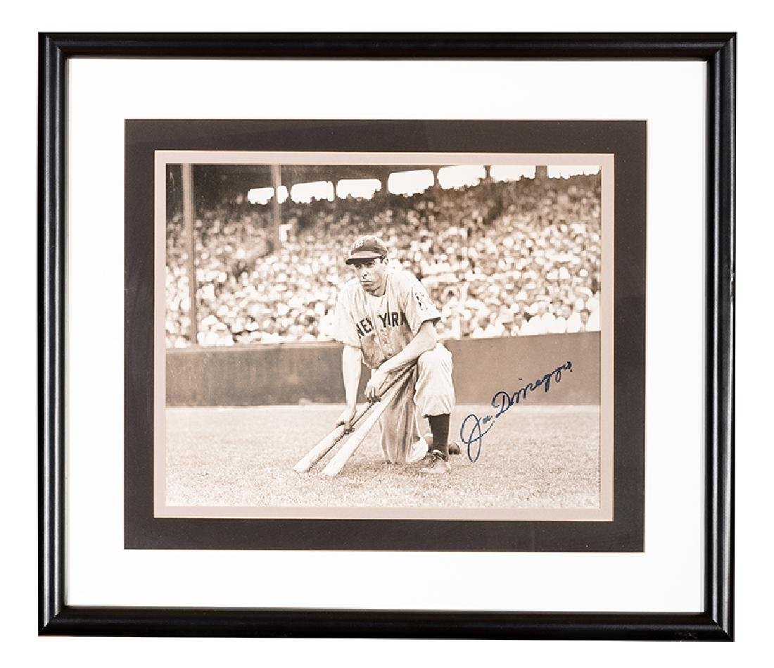 Joe DiMaggio Signed Oversize Photograph.
