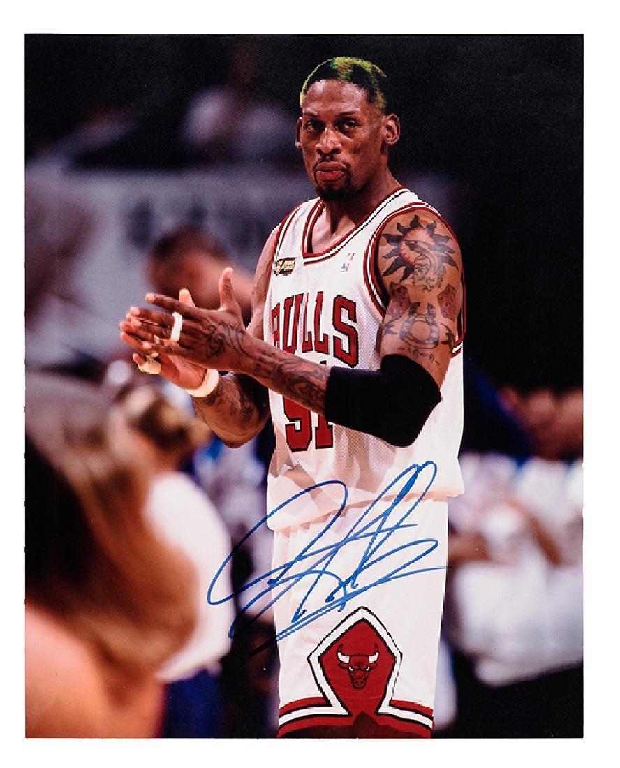 Dennis Rodman Signed Photograph.