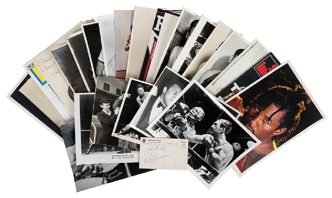 """Boxing champs collection of 8 x 10"""" autographed photos."""