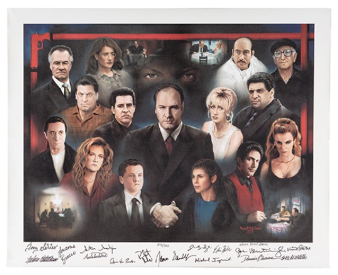 The Sopranos Cast Signed Limited Edition Giclee.