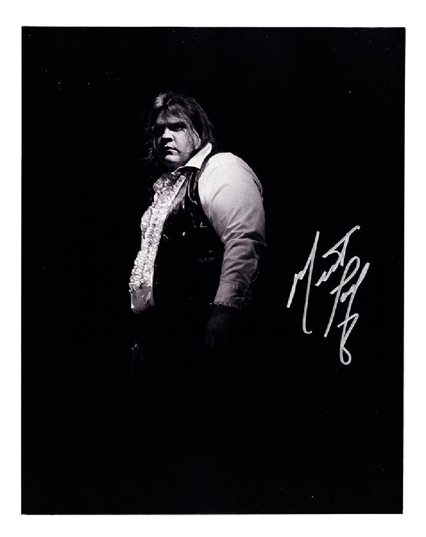 Meat Loaf Signed Photograph.