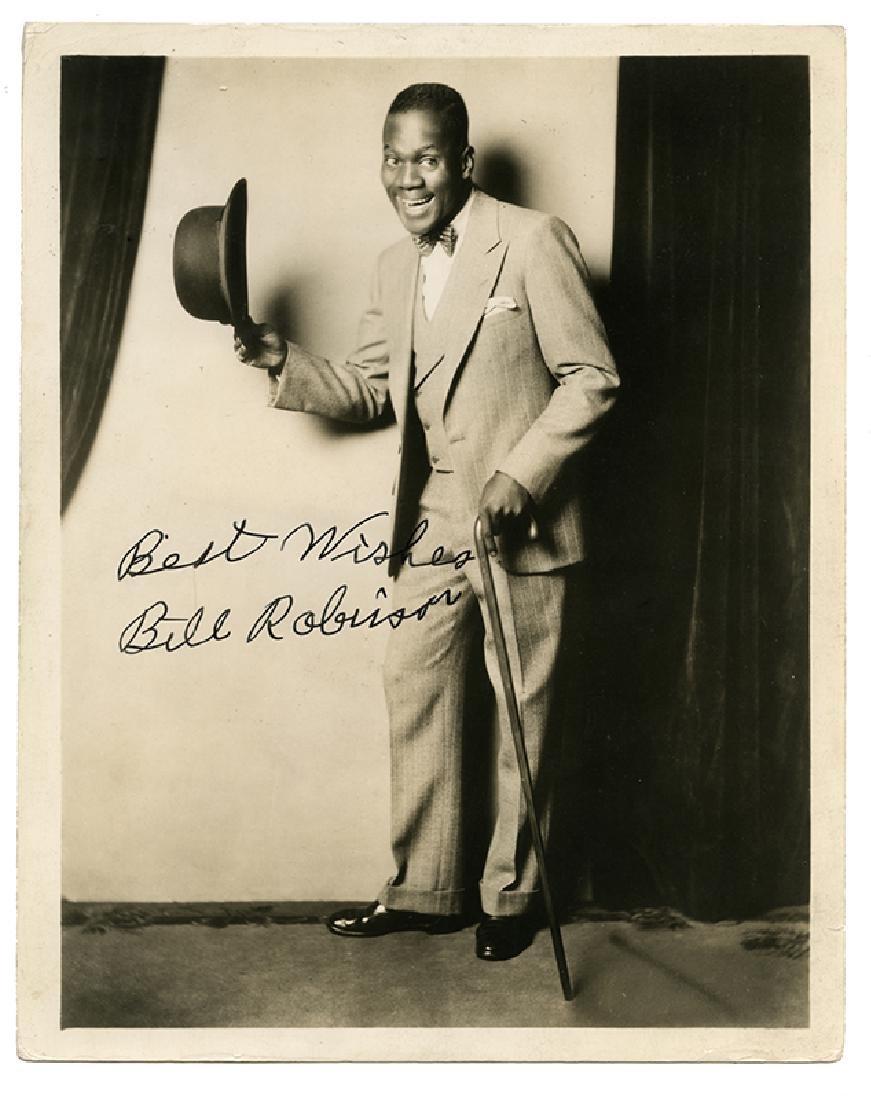 "Bill ""Bojangles"" Robinson signed photograph"