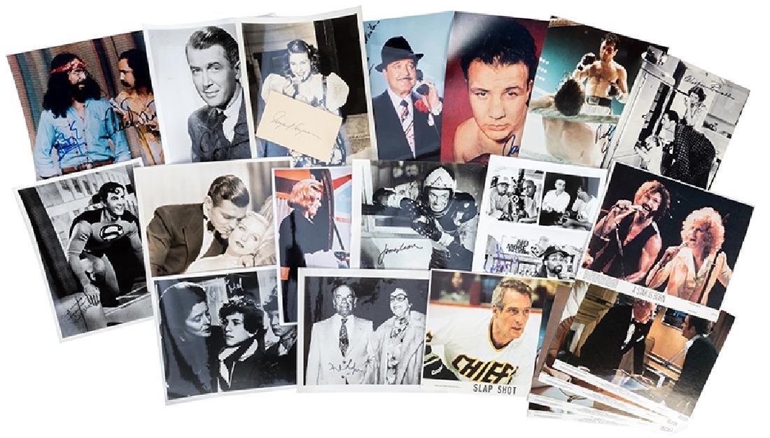Twenty signed photographs of Actors and Celebrities.