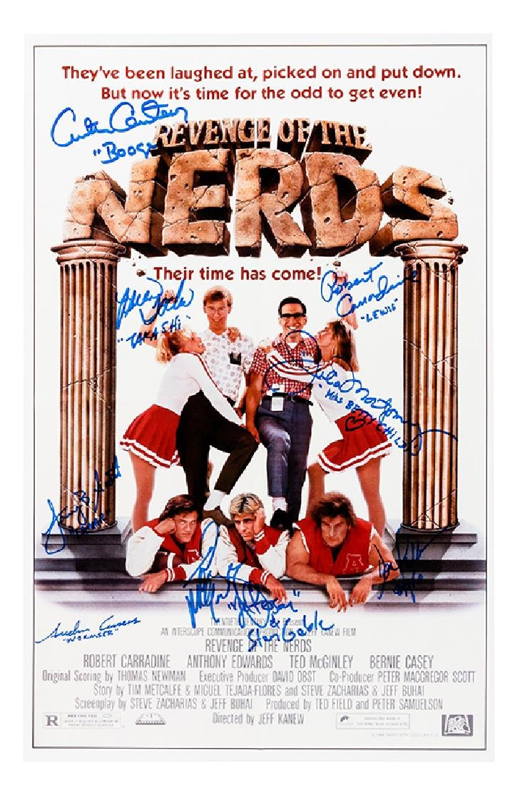 """Revenge of the Nerds"" Cast-Signed Color Poster Print."