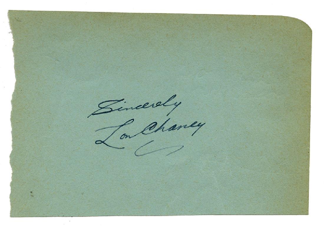 Lon Chaney Jr. Autographed Album Page.