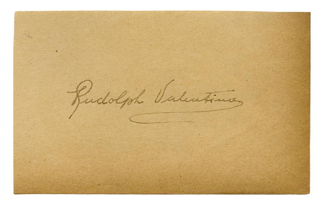 Rudolph Valentino Autographed Album Page.