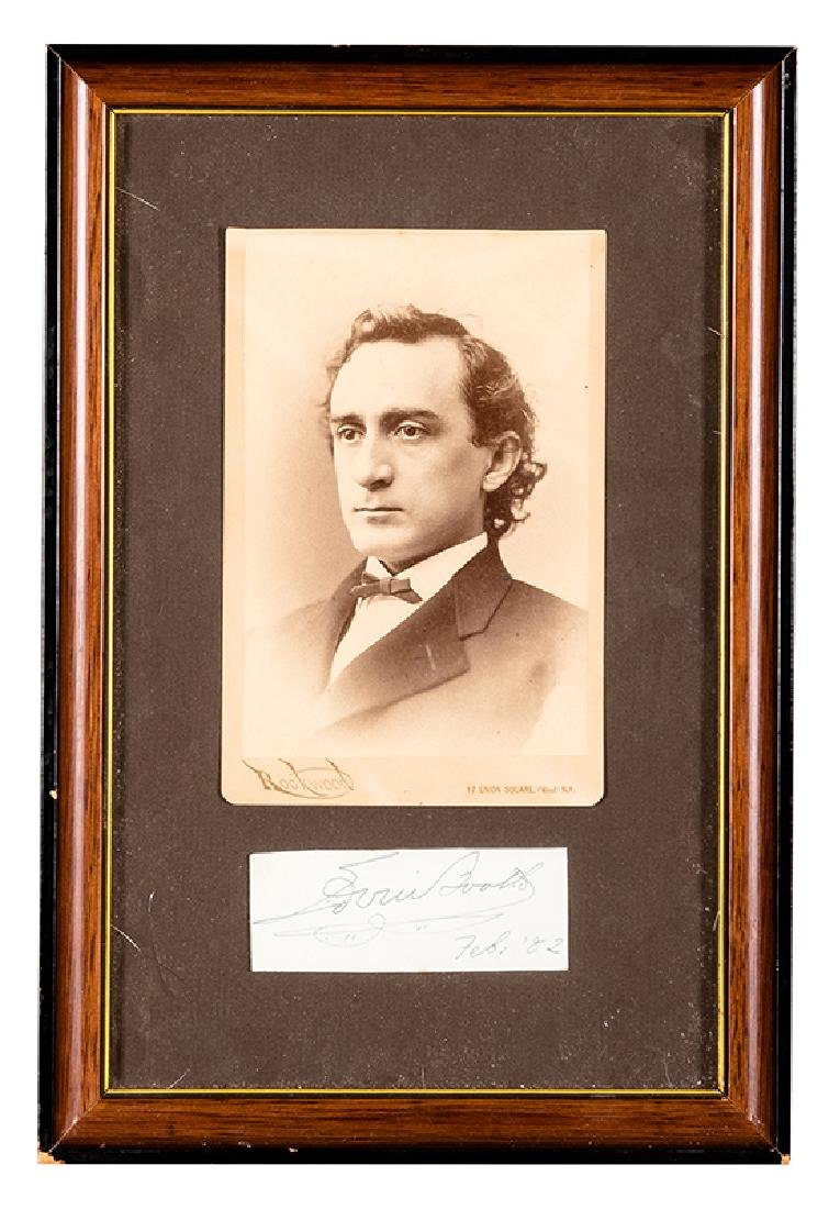 Photograph of Edwin Booth in cabinet card format.