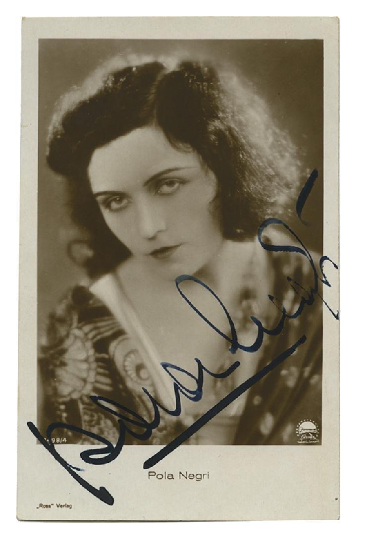 Vintage Pola Negri real photo postcard.