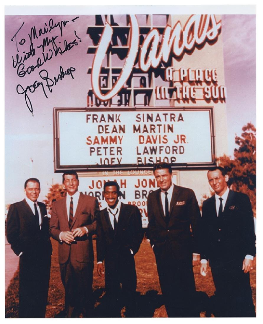 Joey Bishop Signed Photograph.