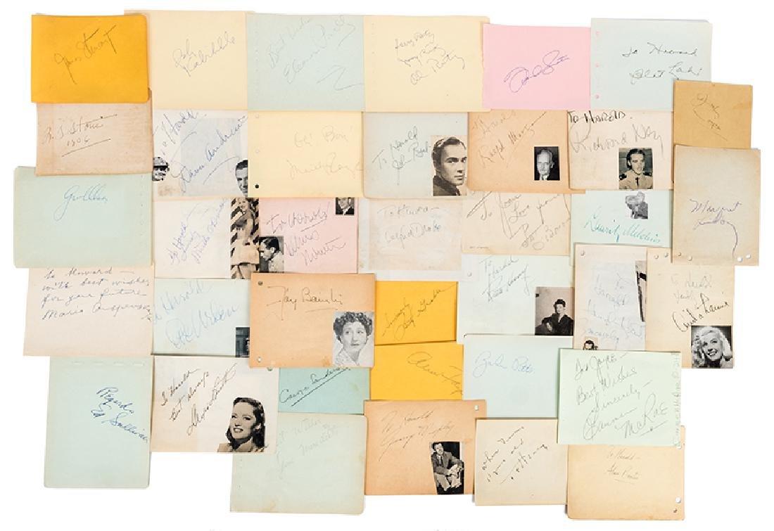 Two 1930s-40s Celebrity Autograph Albums.