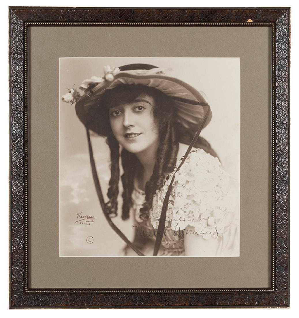 Signed photograph of Mabel Normand.