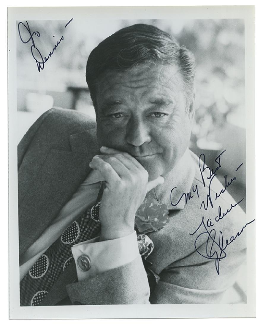 Jackie Gleason signed photograph.