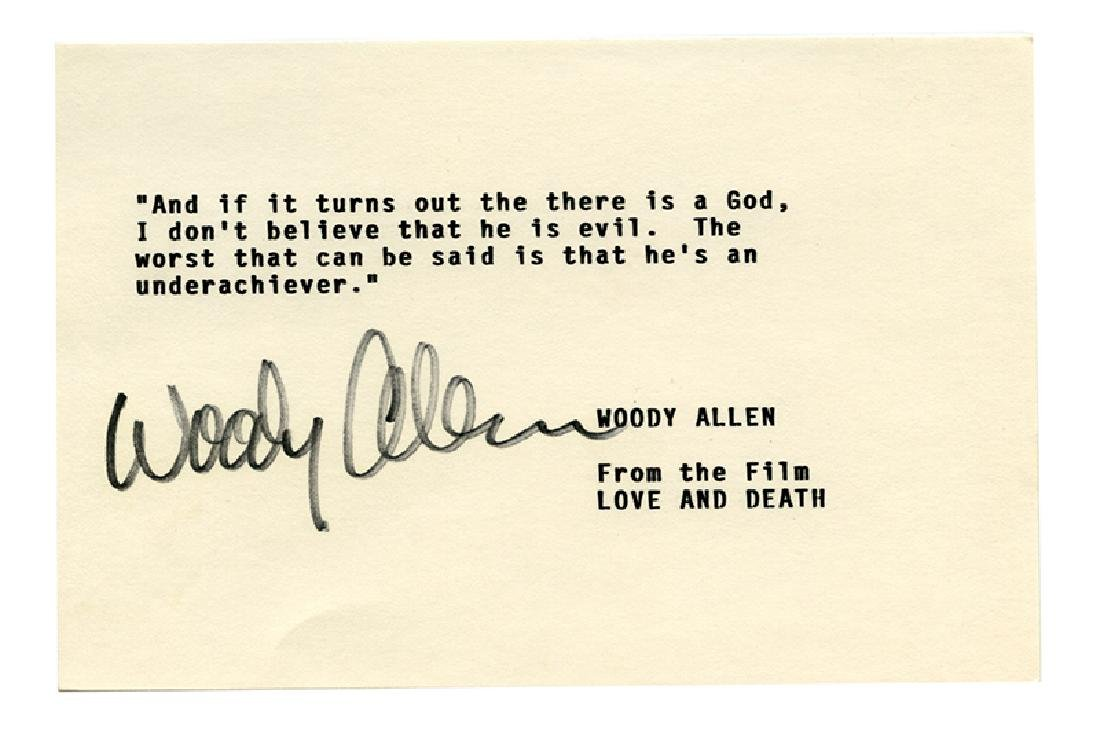 Woody Allen TQS from film Love and Death.