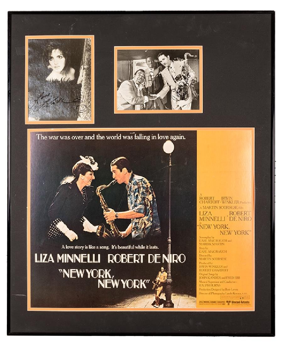 "Framed Autograph display for ""New York, New York."""