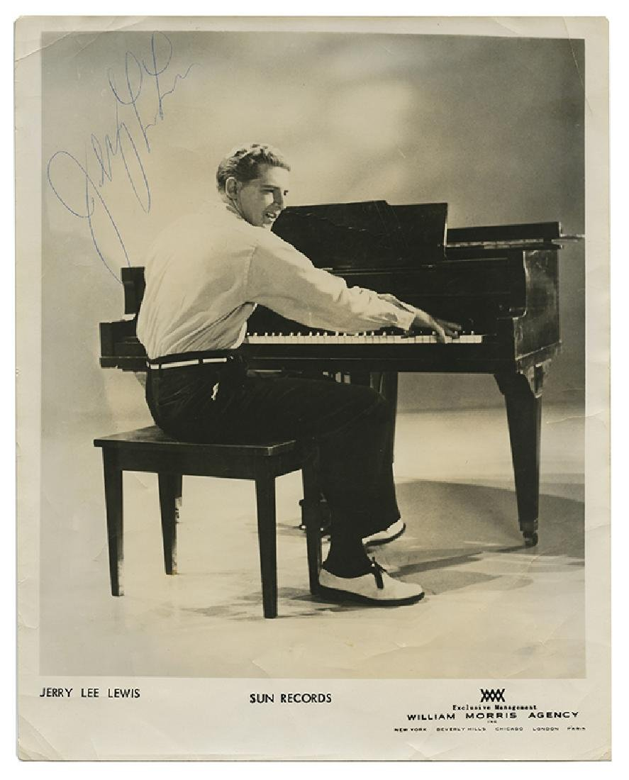 Jerry Lee Lewis Signed Photograph.