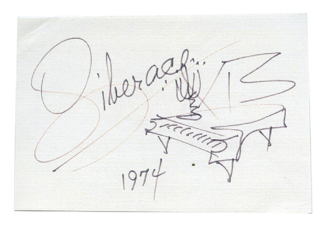 Liberace signature with drawing.