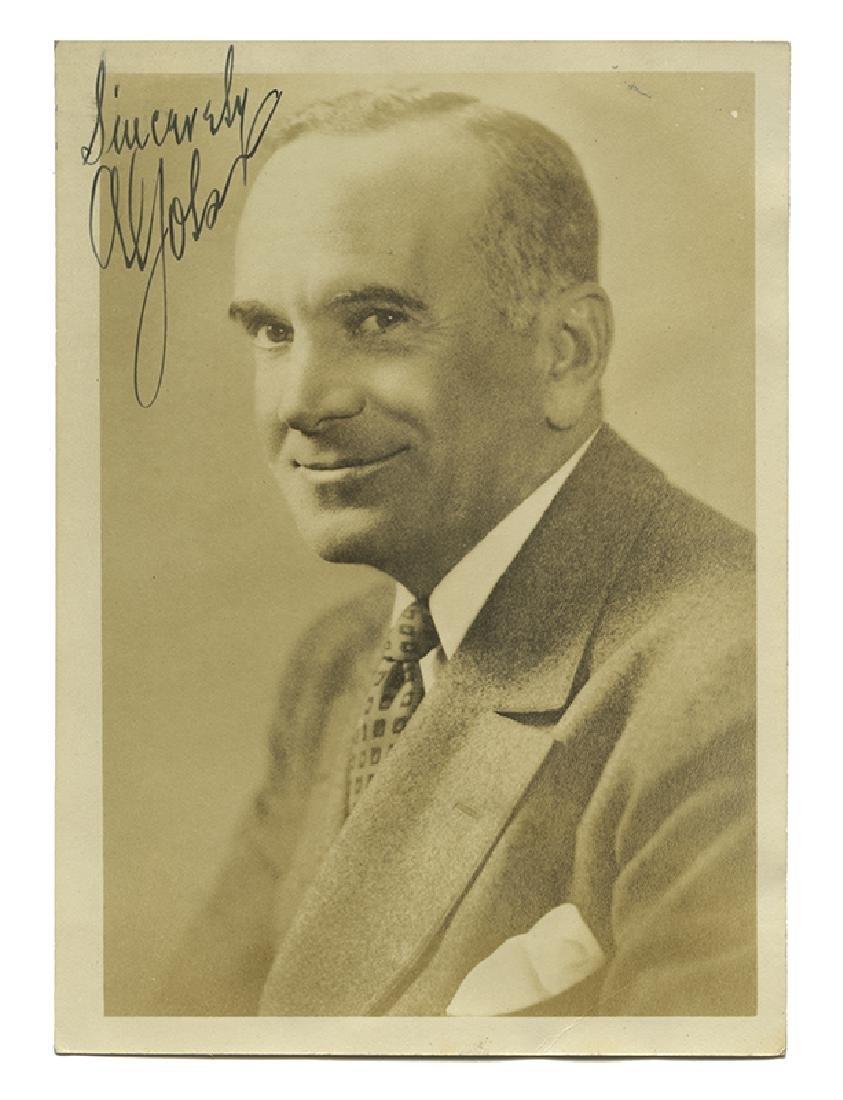 Signed Al Jolson Photograph.