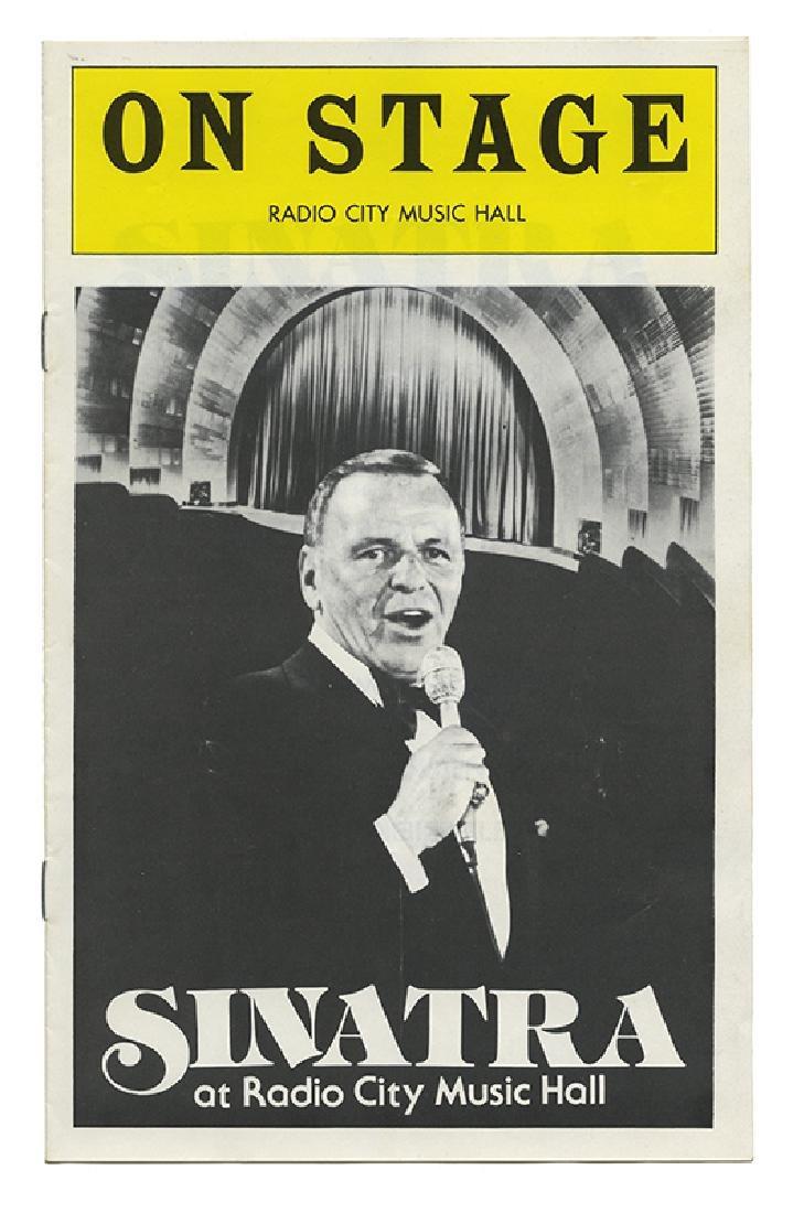 Four pieces of Frank Sinatra memorabilia.