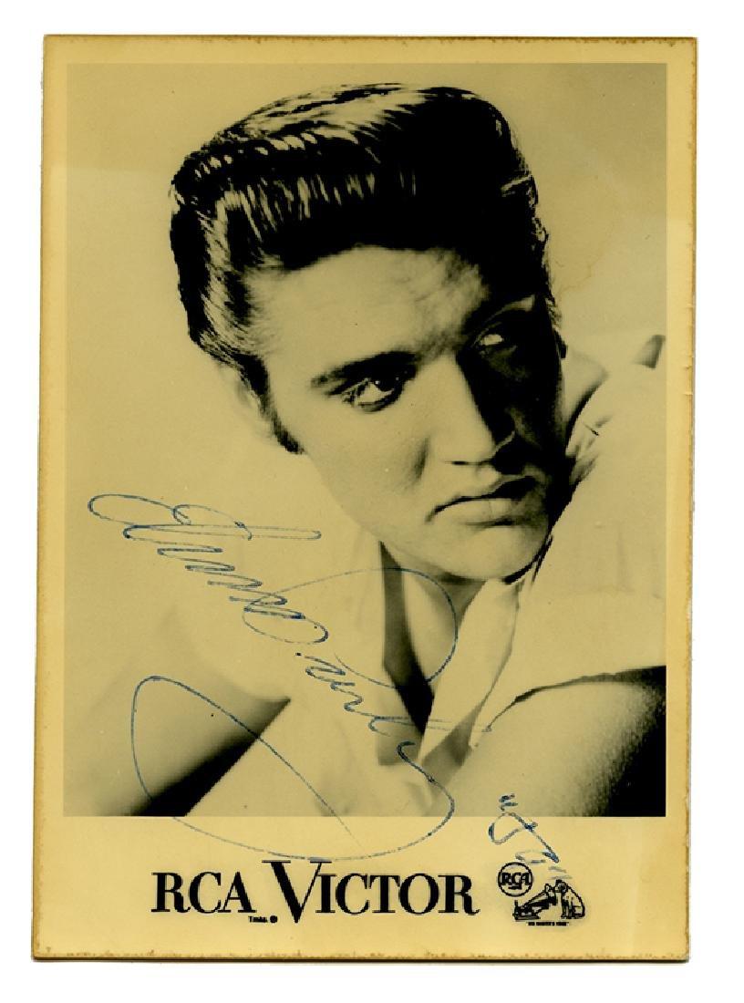 Signed Elvis Presley RCA Victor postcard.