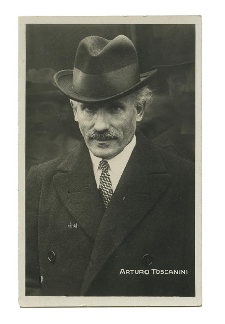 Real photo postcard signed by Toscanini.