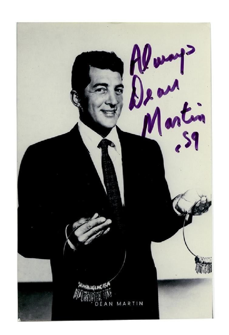 Dean Martin Signed Photo.