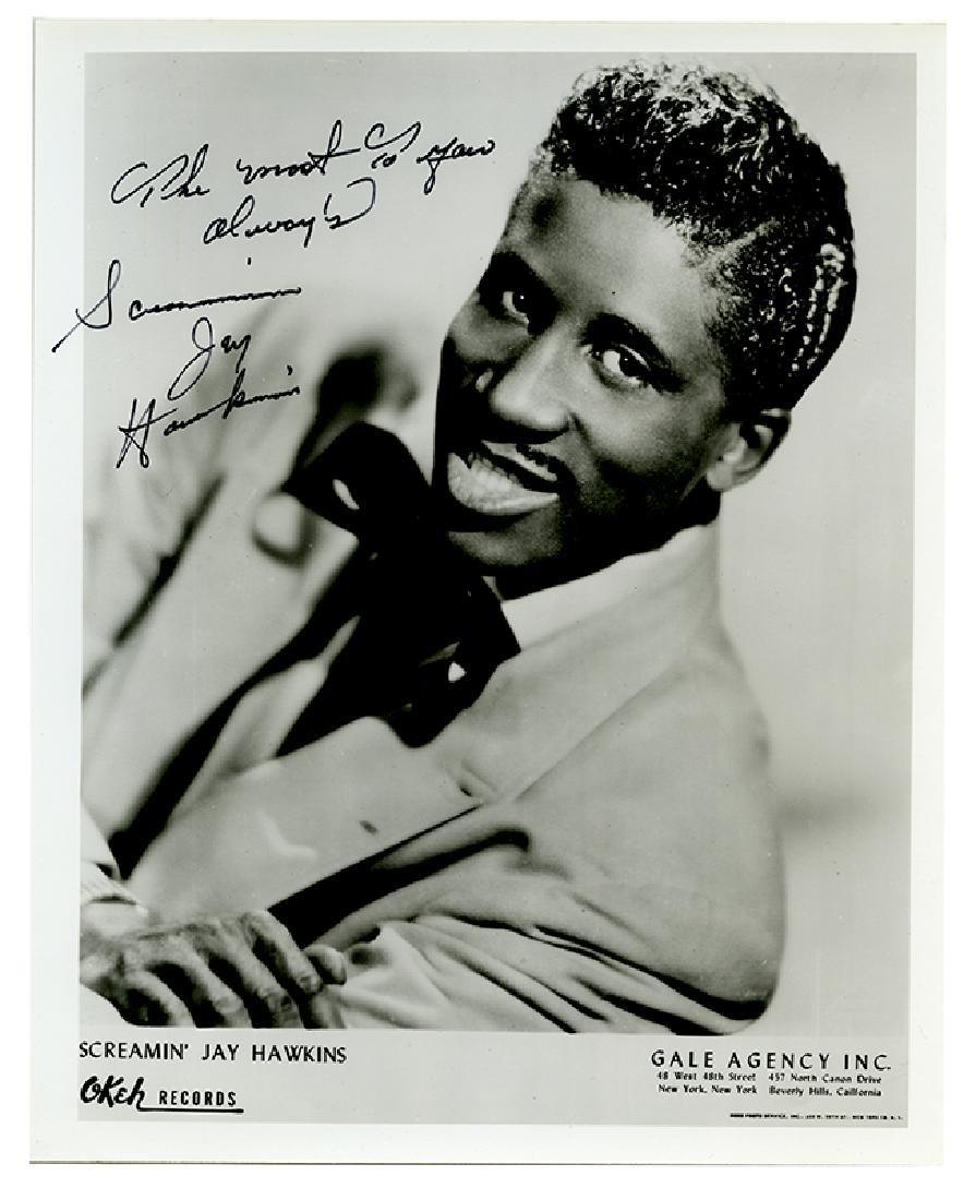 Autographed Screamin' Jay Hawkins promotional photo.