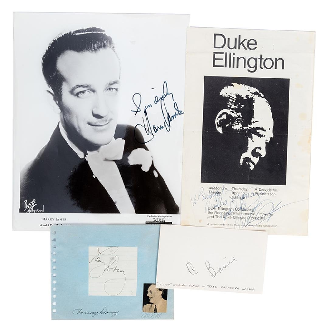 Duke Ellington, Tommy Dorsey, Count Basie, Harry James