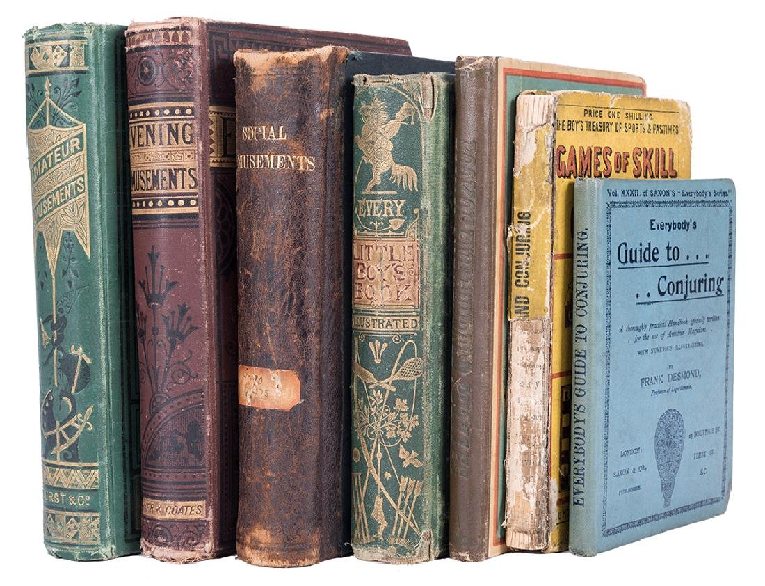 Group of Seven Antiquarian Volumes on Magic and