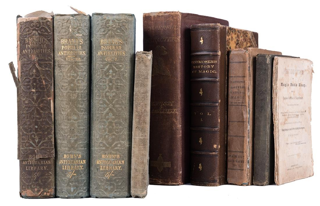 Group of Seven Antiquarian Volumes Pertaining to Magic