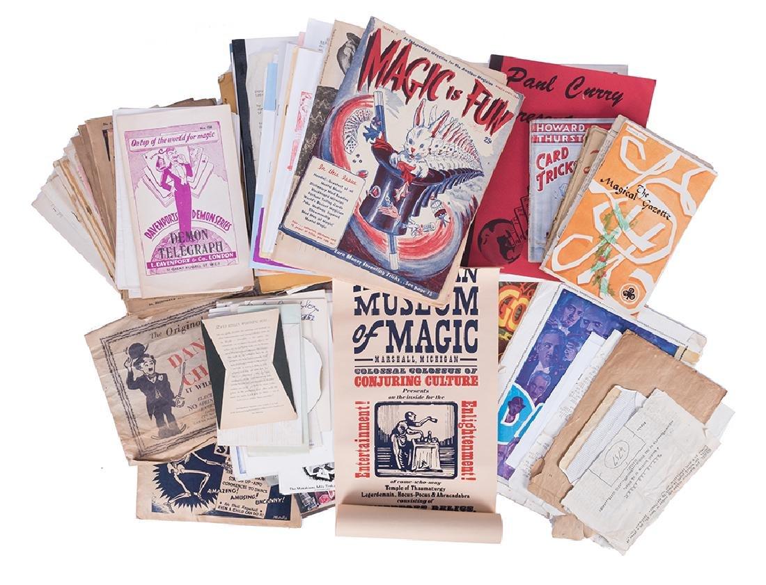 Lot of Vintage Magicians Programs and Ephemera, Plus