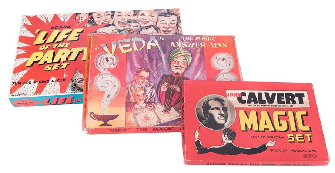Lot of Three Vintage Magic and Novelty Sets.