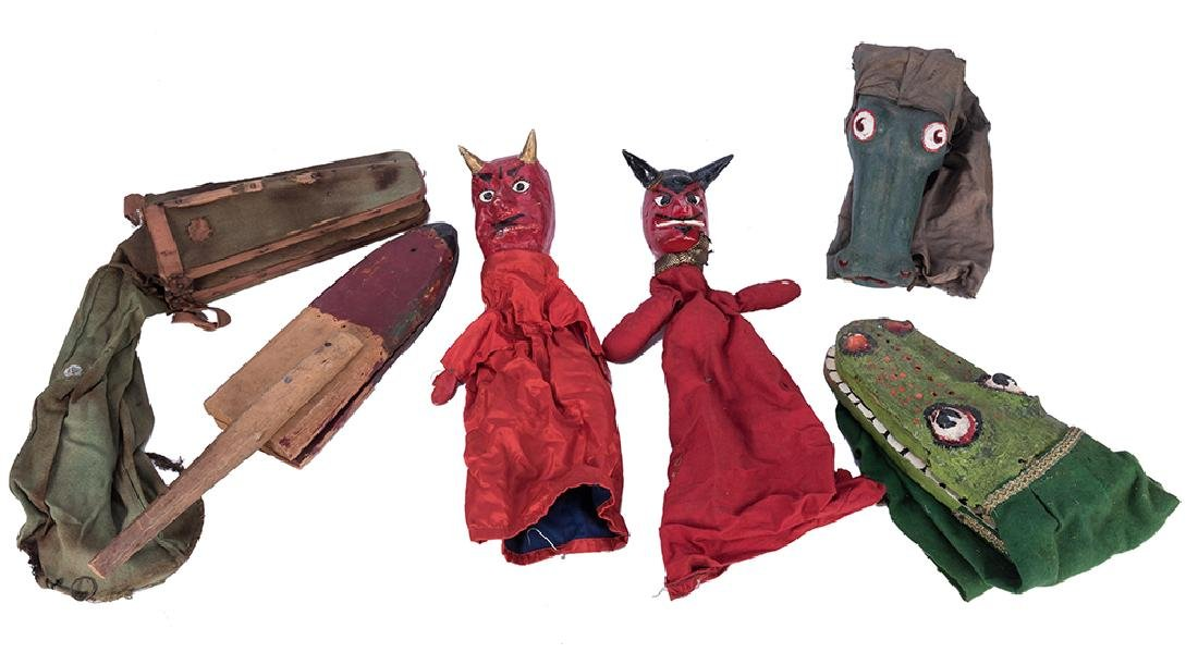 Lot of Punch and Judy Character Puppets.