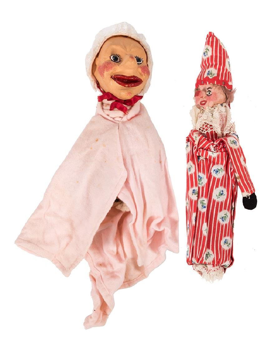A Set of 12 Punch and Judy Glove/Hand Puppets.