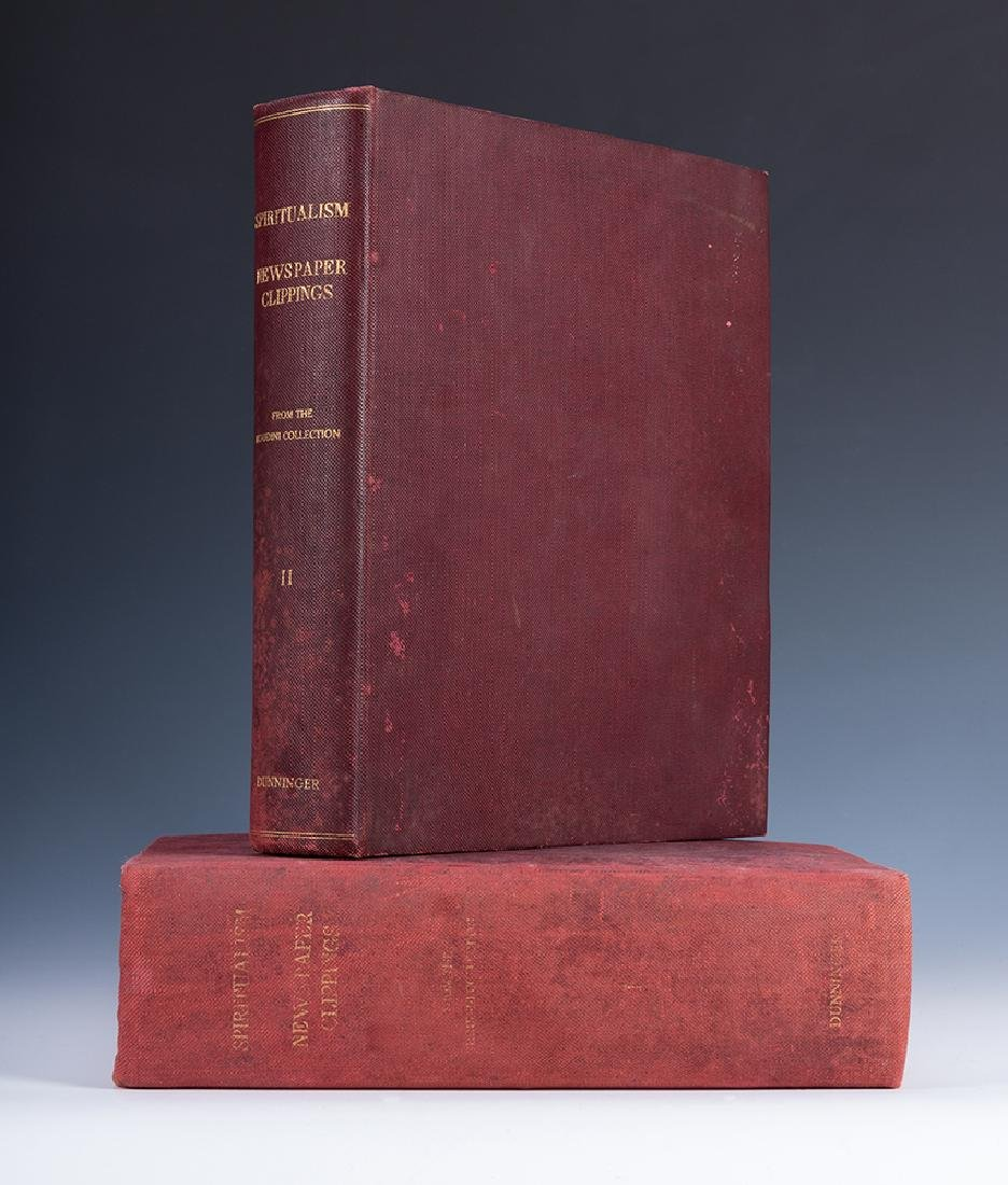 A Two Volume Spiritualism Scrapbook Kept and Annotated