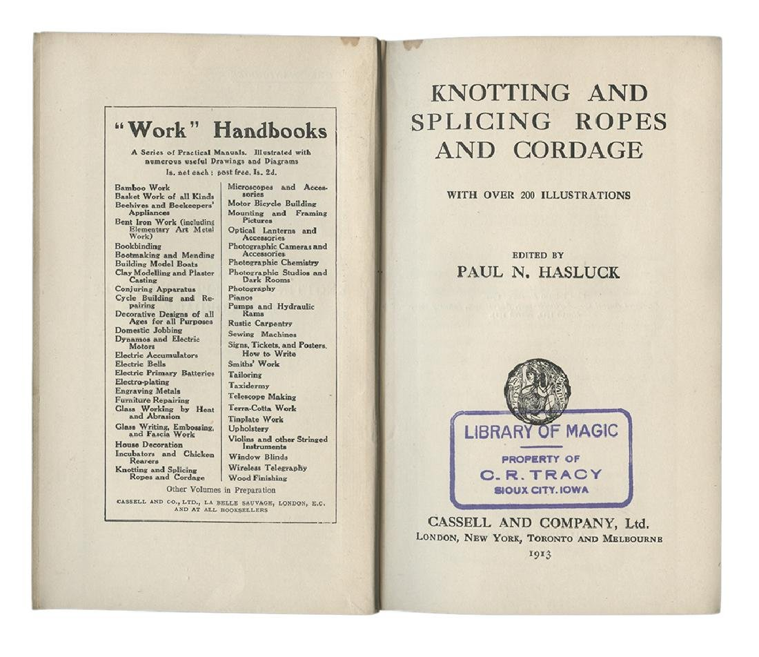 Knotting & Splicing Ropes, Signed by Harry Houdini. - 3