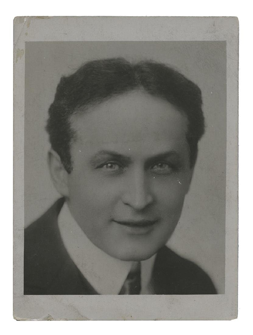 Portrait Photograph of Harry Houdini.