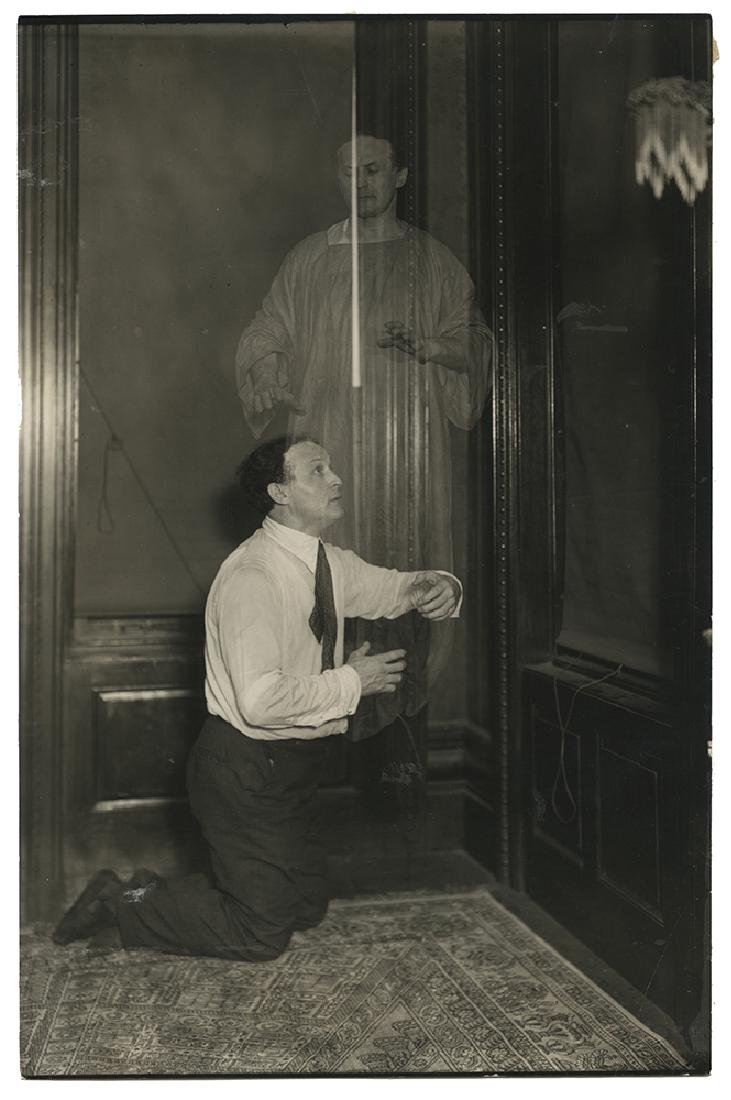 Spirit Photo of Harry Houdini.
