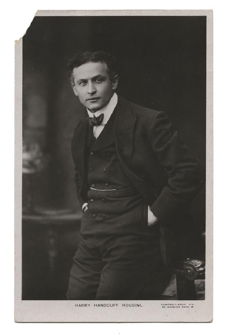 Real Photo Postcard of Houdini.