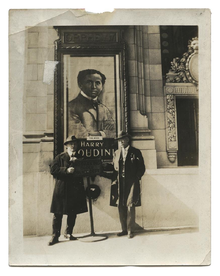 Photograph of Houdini and A.M. Wilson.