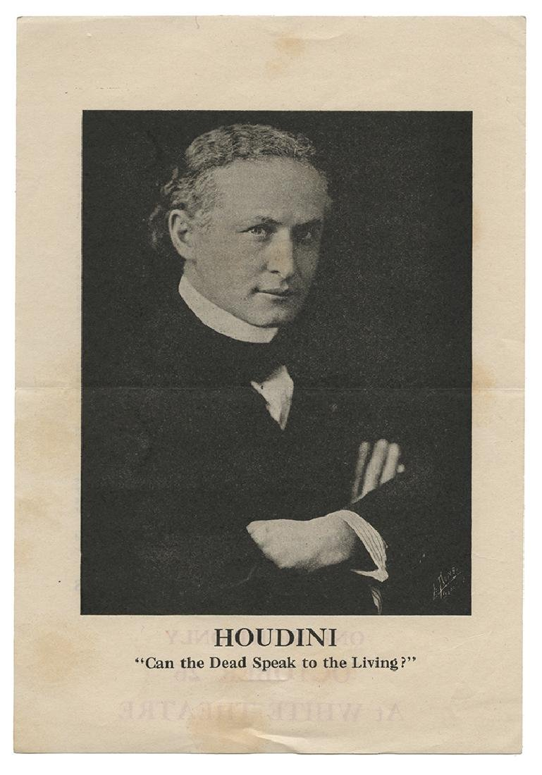 Houdini. Can the Dead Speak to the Living?